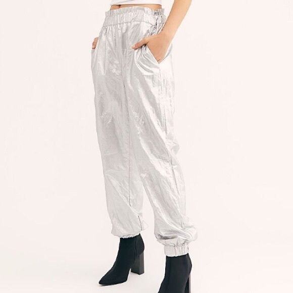 Free People Pants - Free People Metallic Joggers